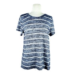 MARKET & SPRUCE striped short sleeve shirt | M